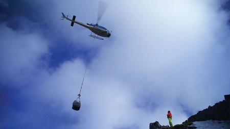 First phase of Mourne Wall helicopter drops complete!
