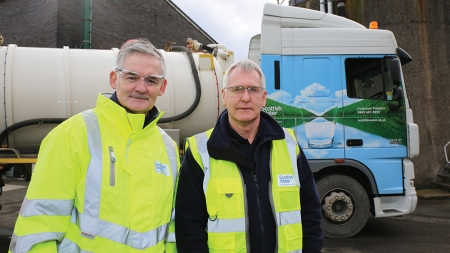 Scottish Water's longest serving employee takes Chief Operating Officer back to his roots
