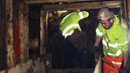 Tunnelling team shift 90 tonnes of earth hand-digging Edinburgh sewer