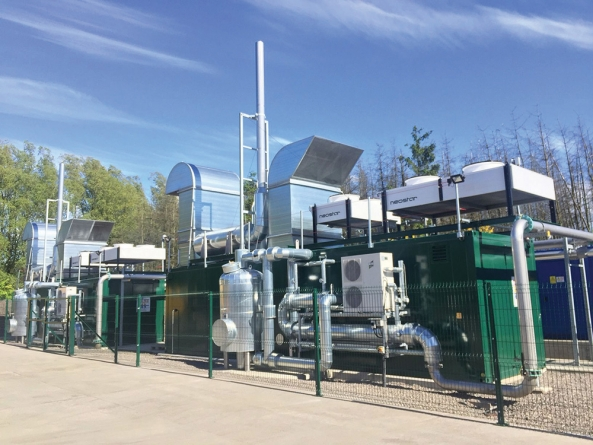 2G CHP units plus gas treatment installed by Scottish Water Horizons to help recycle food waste