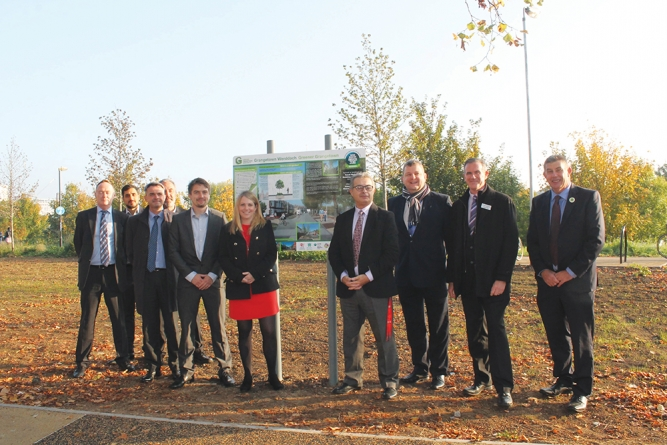 Greener Grangetown project completion marked by Welsh Environment Minister